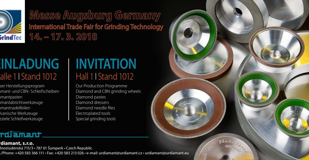 GrindTec-International Trade Fair for Grinding Technolog – 14-17.03.2018